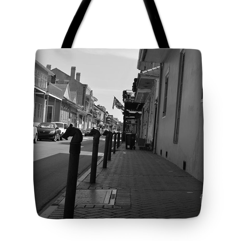 French Quarter Tote Bag featuring the photograph In The French Quarter by Alys Caviness-Gober