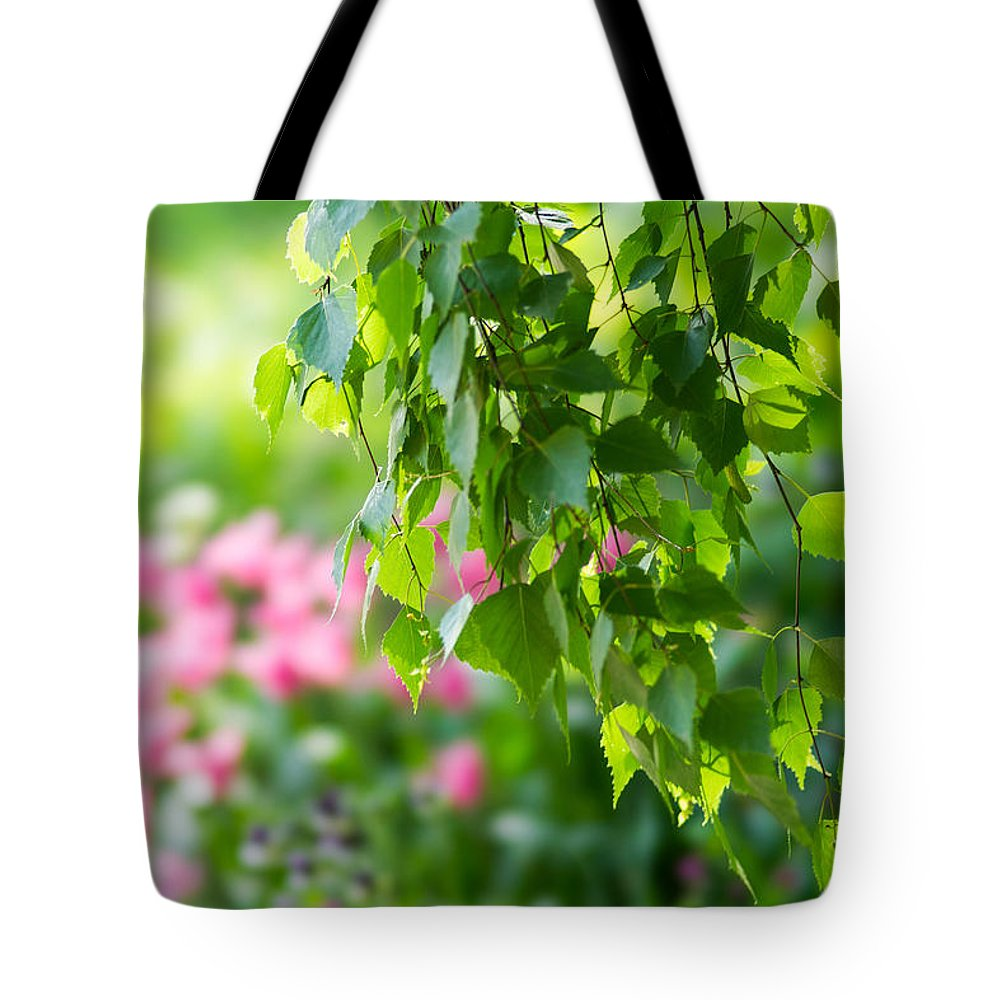 Abstract Tote Bag featuring the photograph In The Garden by Alexander Senin