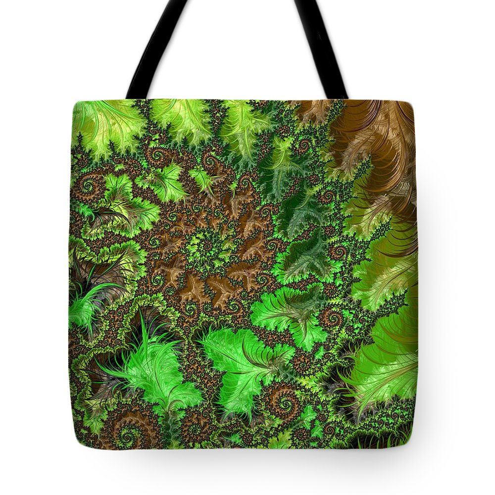 Abstract Tote Bag featuring the digital art In The Jungle by Heidi Smith