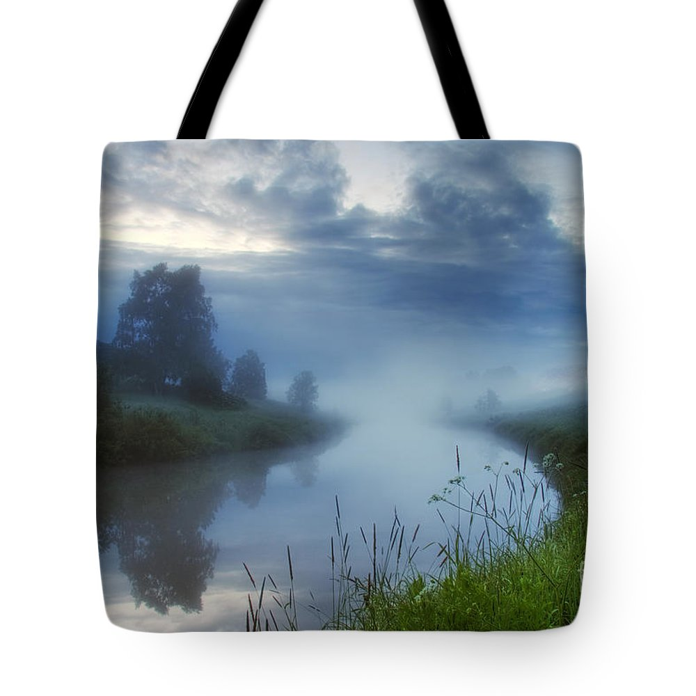 Art Tote Bag featuring the photograph In The Morning At 02.57 by Veikko Suikkanen