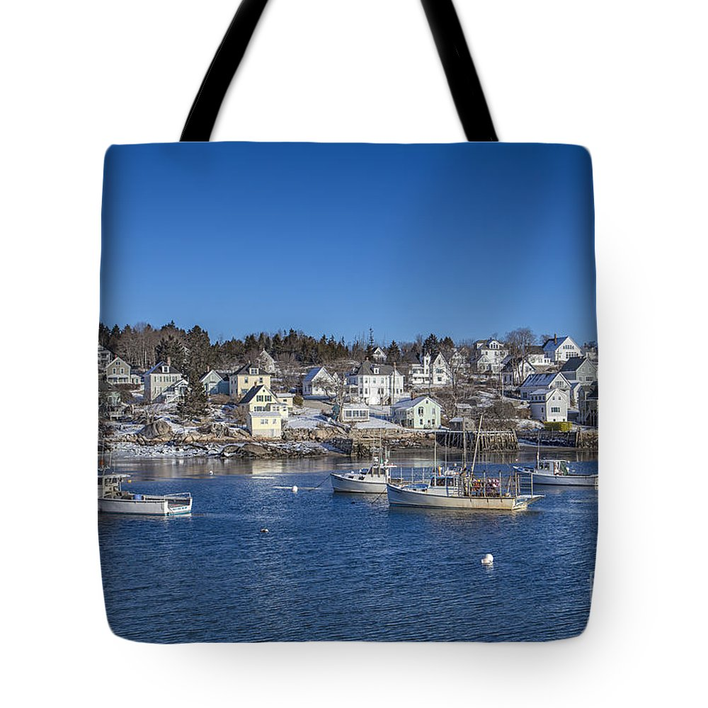 Stonington Tote Bag featuring the photograph In The Morning Light by Evelina Kremsdorf