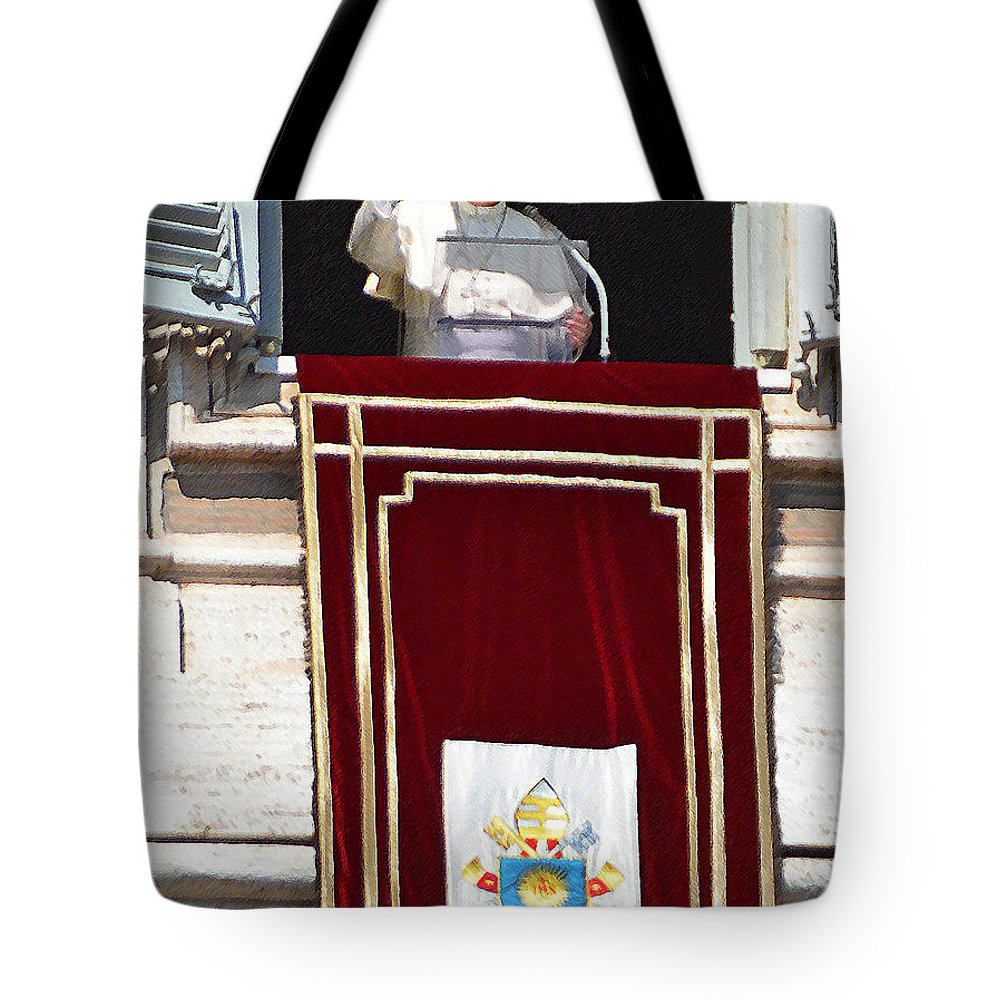 Tote Bag featuring the photograph In The Name Of The Father by Maggie Magee Molino