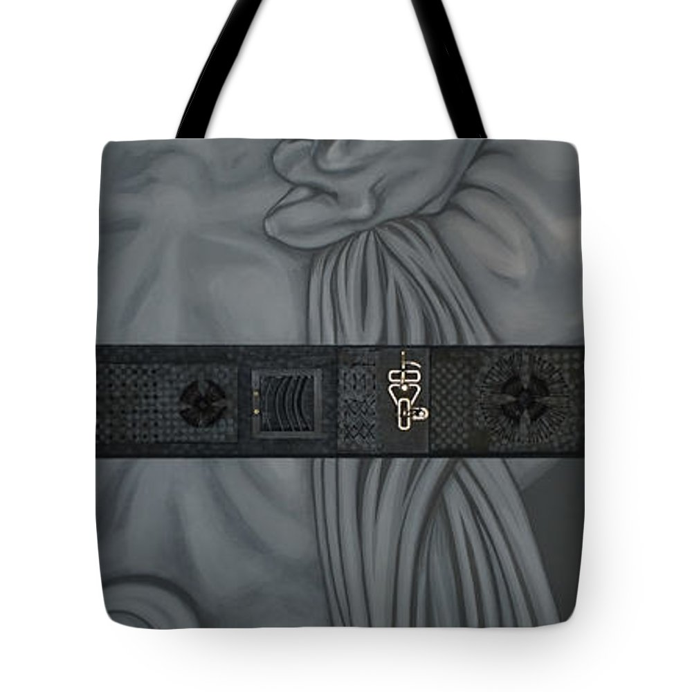 Surreal Tote Bag featuring the painting Two Halfs of Us by Judy Henninger