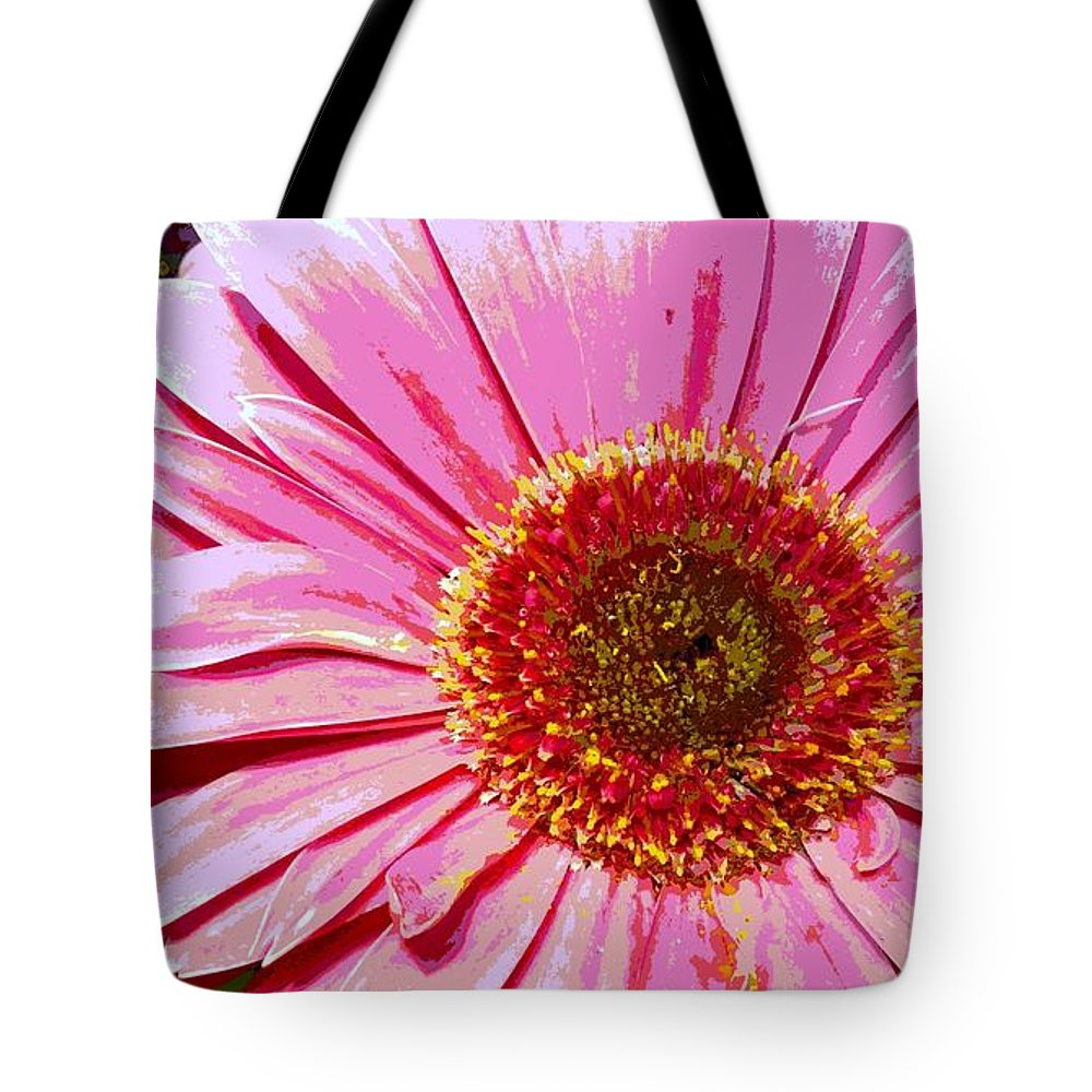 Daisy Tote Bag featuring the photograph In The Pink by Sally Simon