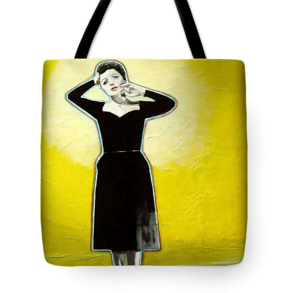 Collage Tote Bag featuring the mixed media In The Spotlight by Elizabeth Bogard