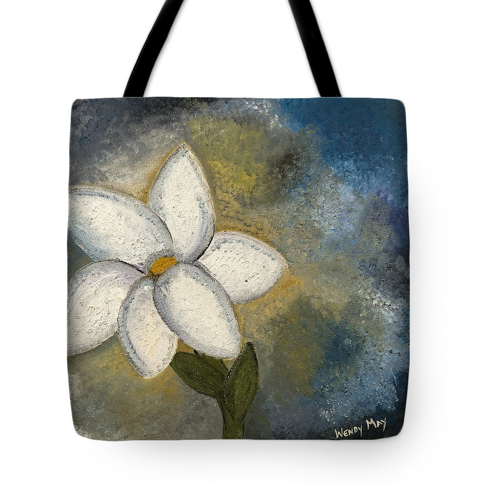 Flowers Tote Bag featuring the painting In The Spring by Wendy May