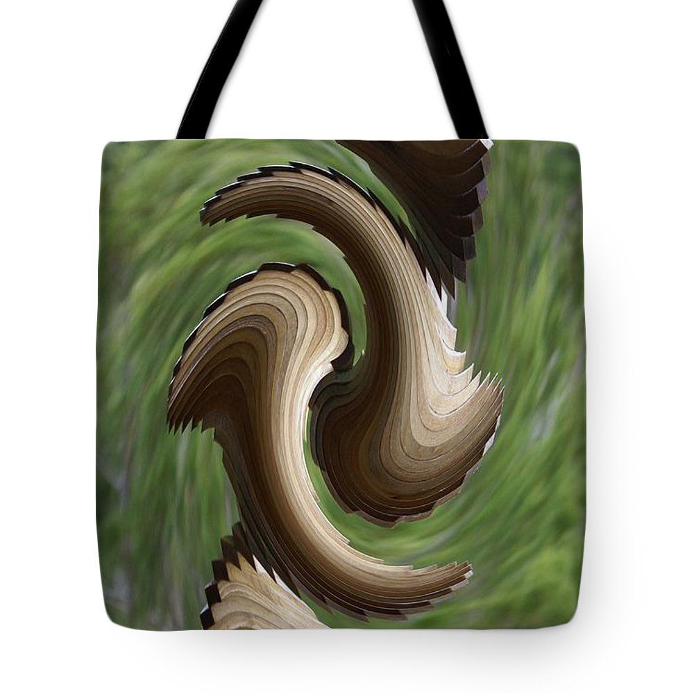 Wind Chime Tote Bag featuring the photograph In The Wind by Evelyn Hill