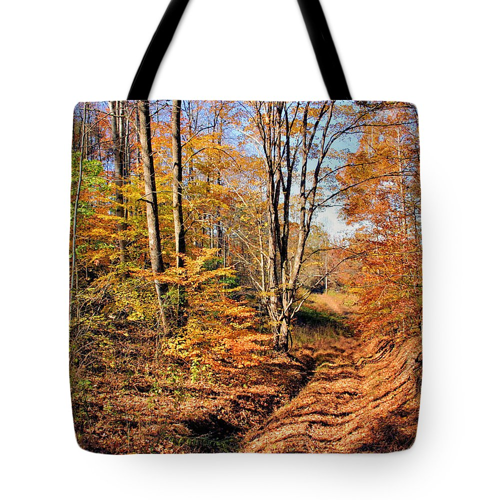 In The Woods Tote Bag featuring the photograph In The Woods by Kristin Elmquist
