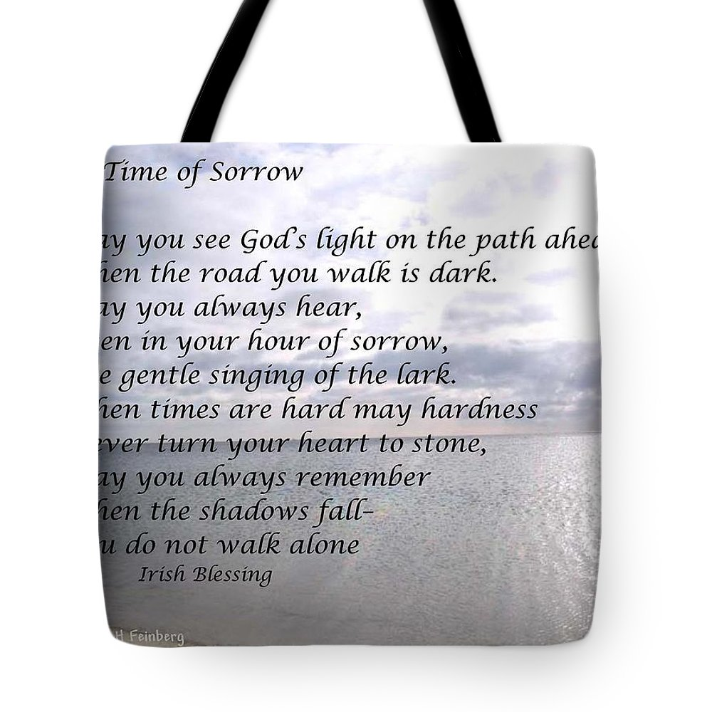Sympathy Tote Bag featuring the painting In Time Of Sorrow by Linda Feinberg