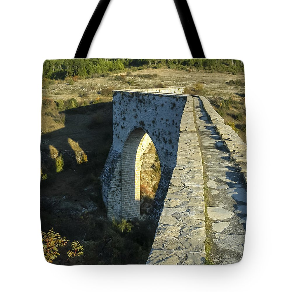 Incekaya Aqueduct Structure Structures Architecture Tree Trees Landscape Landscapes Tote Bag featuring the photograph Incekaya Aqueduct by Bob Phillips