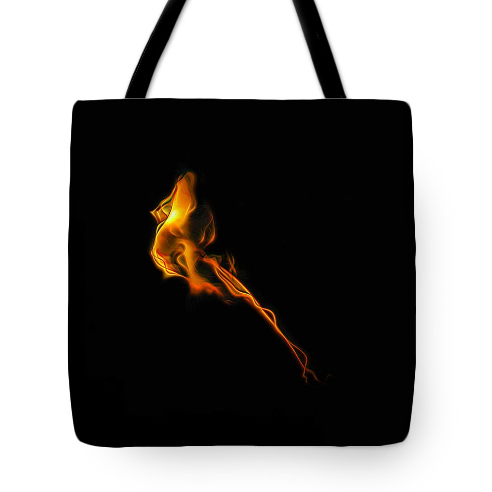 Fire Tote Bag featuring the photograph Incenerate by Wes Jimerson