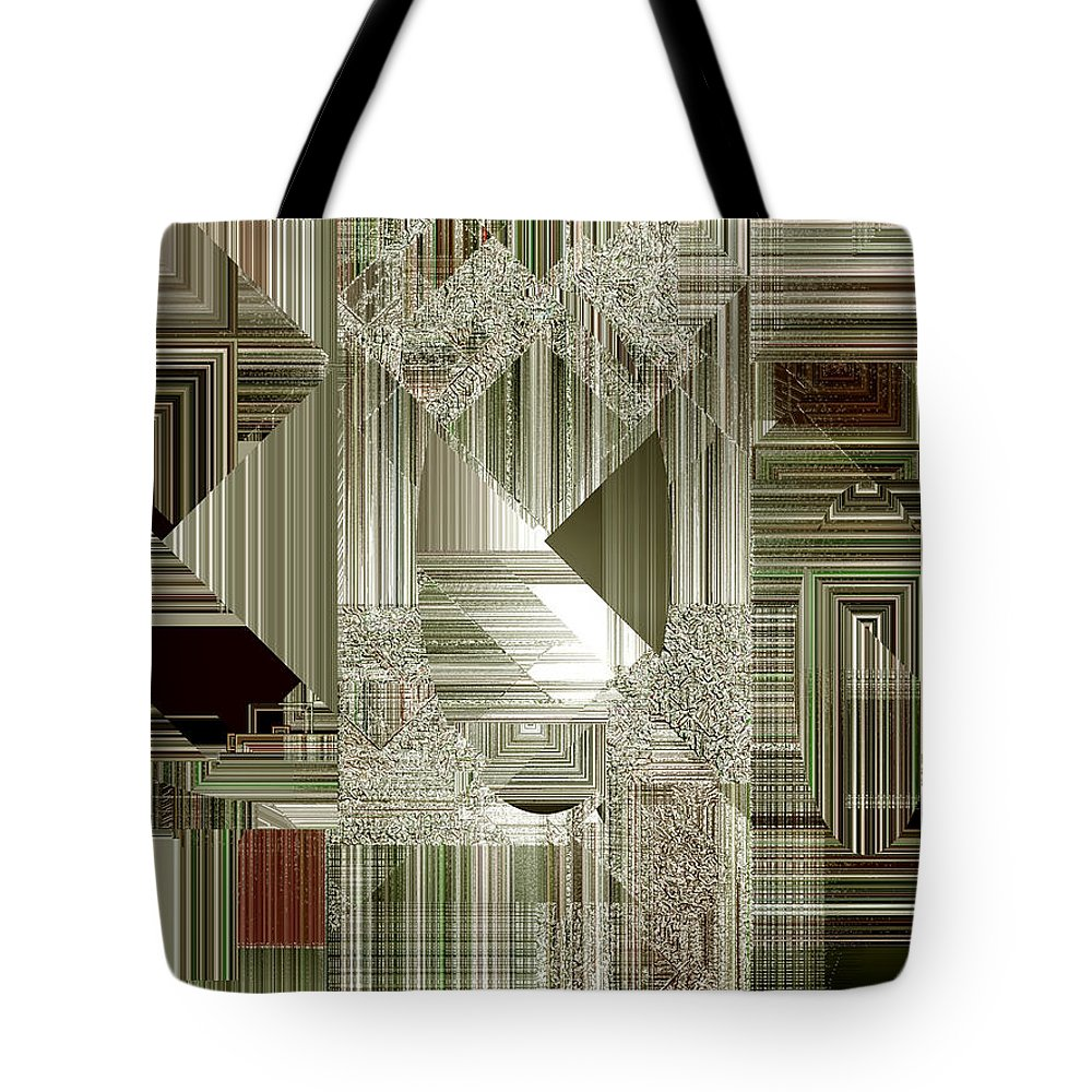 Abstract Tote Bag featuring the painting Indecision I by RC DeWinter