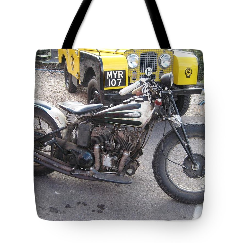 Indian Motorbike Tote Bag featuring the photograph Indian Bike by Robert Phelan