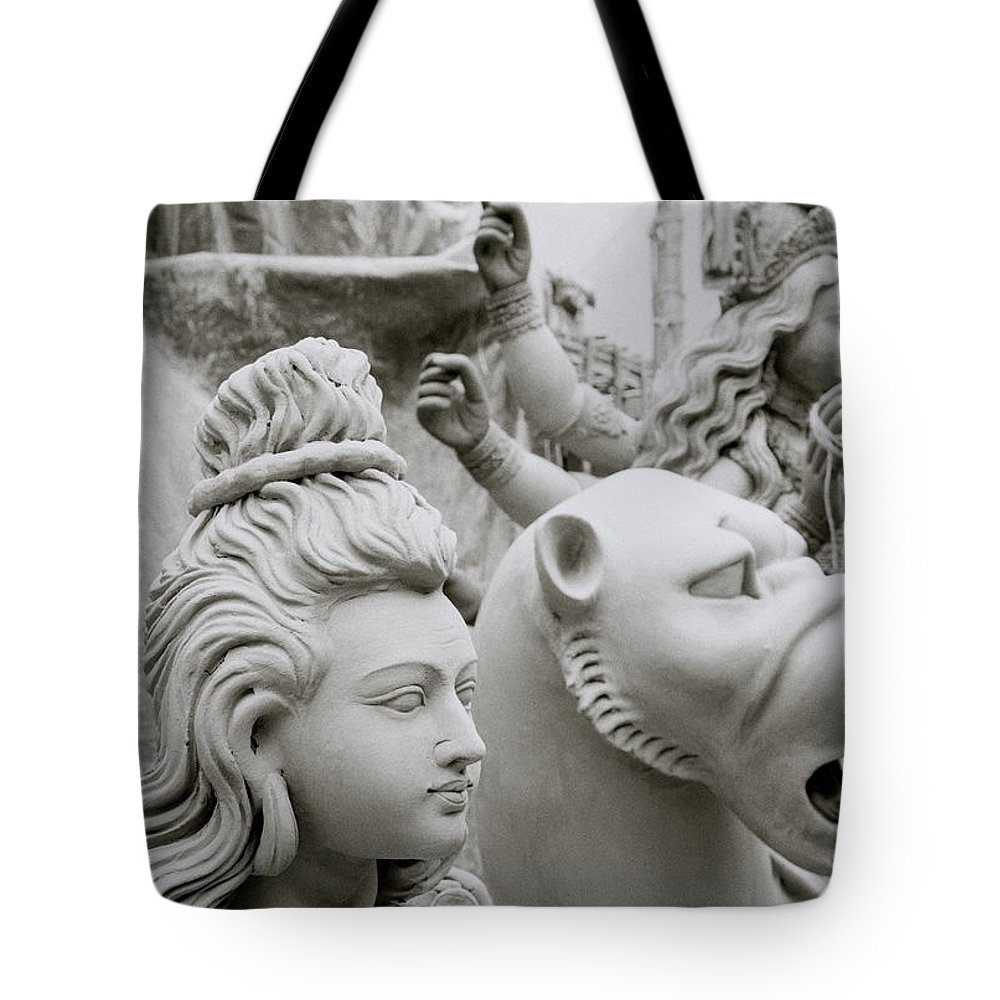 Woman Tote Bag featuring the photograph Beautiful Durga by Shaun Higson