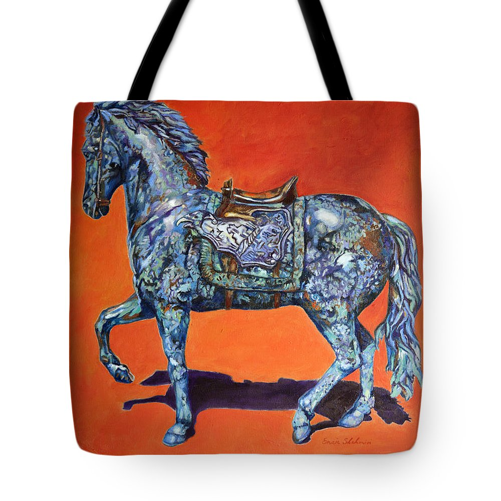 Horse Tote Bag featuring the painting Indigo by Portraits By NC