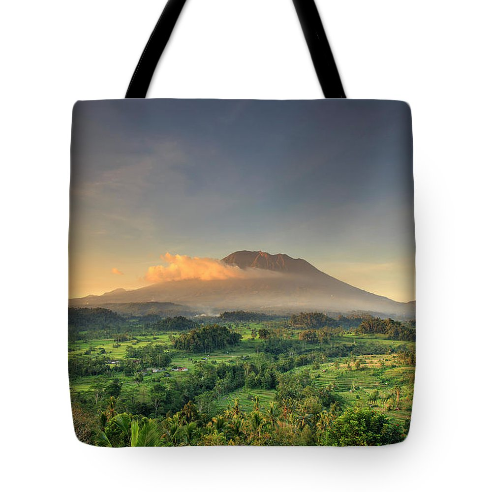 Scenics Tote Bag featuring the photograph Indonesia, Bali, Forest And Gunung by Michele Falzone