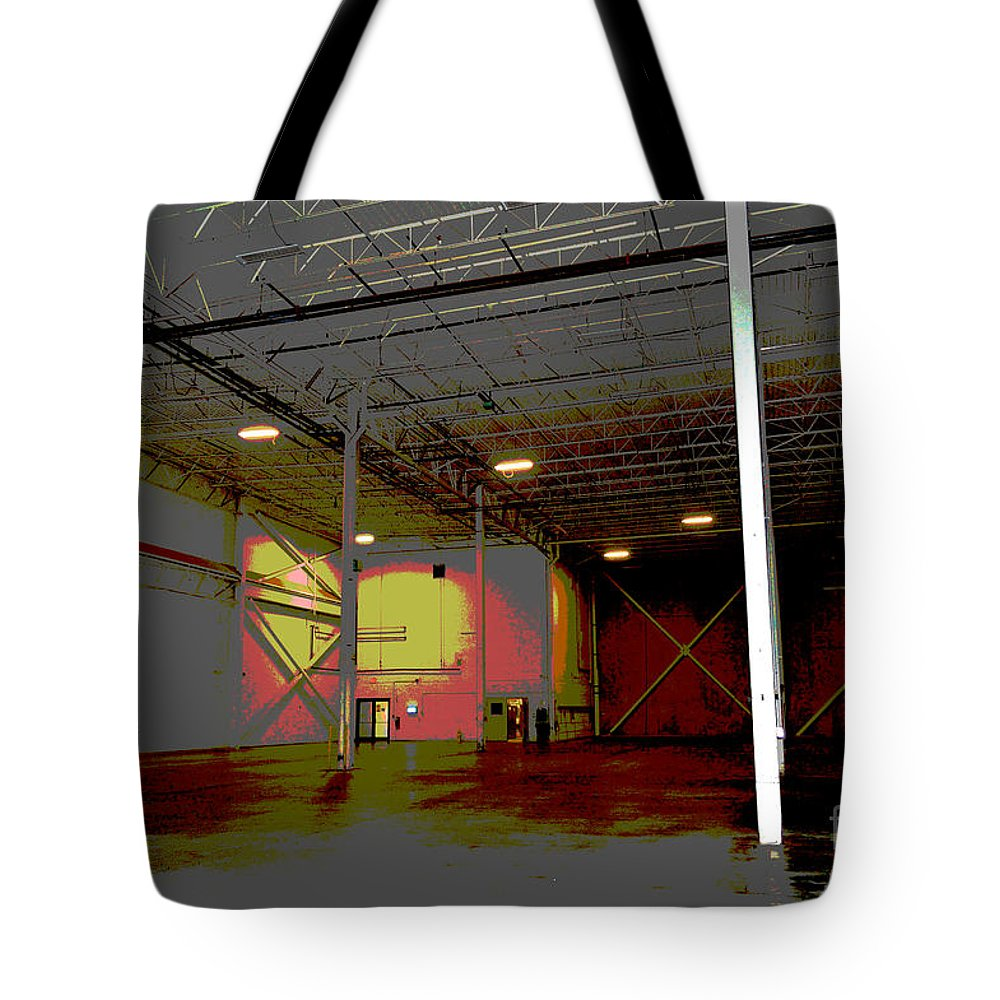 Industrial Tote Bag featuring the photograph Industrial 3 by Alys Caviness-Gober