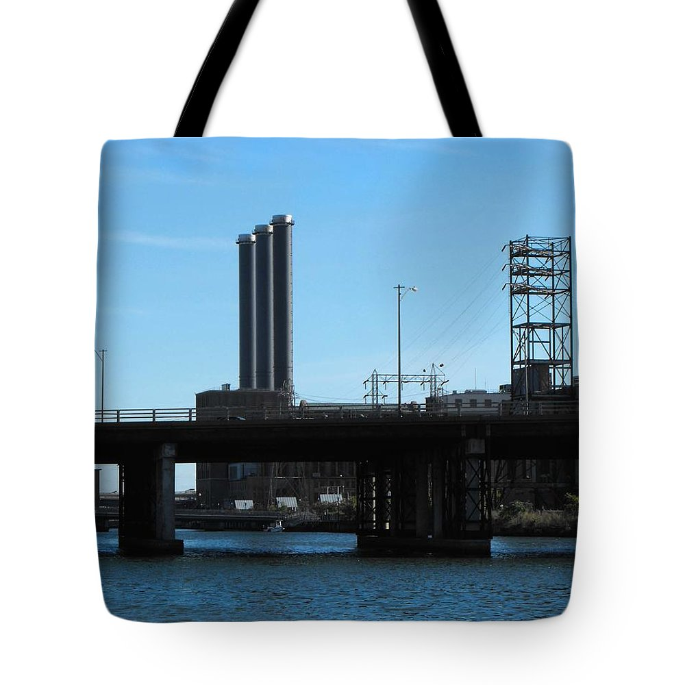 Scenic Landscape Tote Bag featuring the digital art Industry by Catherine Ratliff