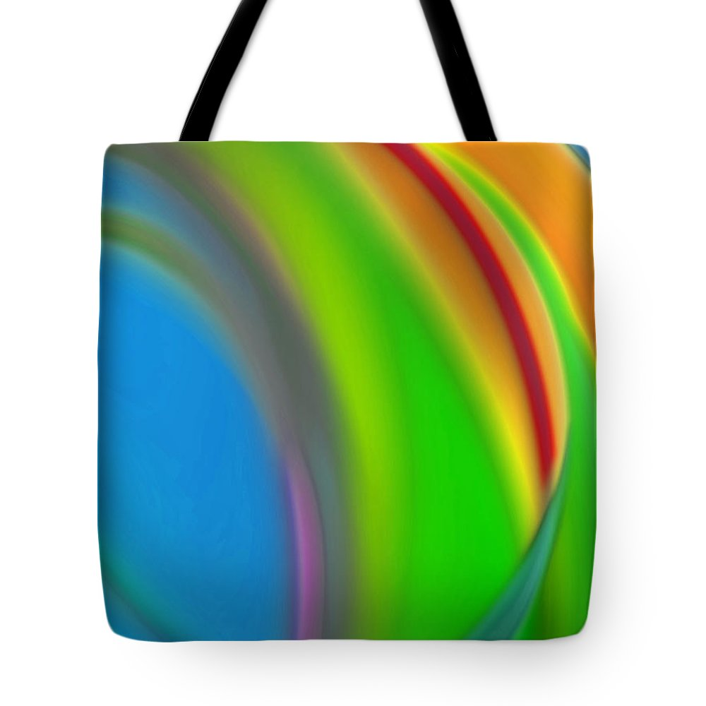 Corporate Tote Bag featuring the digital art Inevitable Waterfall by Del Gaizo