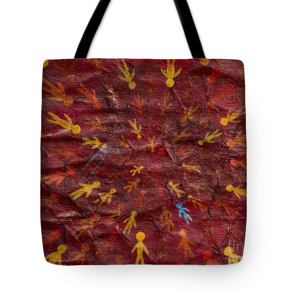 Tote Bag featuring the painting Infinite Possibilities by Stefanie Forck