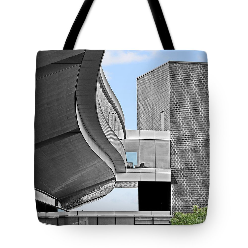 Penn State Tote Bag featuring the photograph Information Technology Building by Dawn Gari