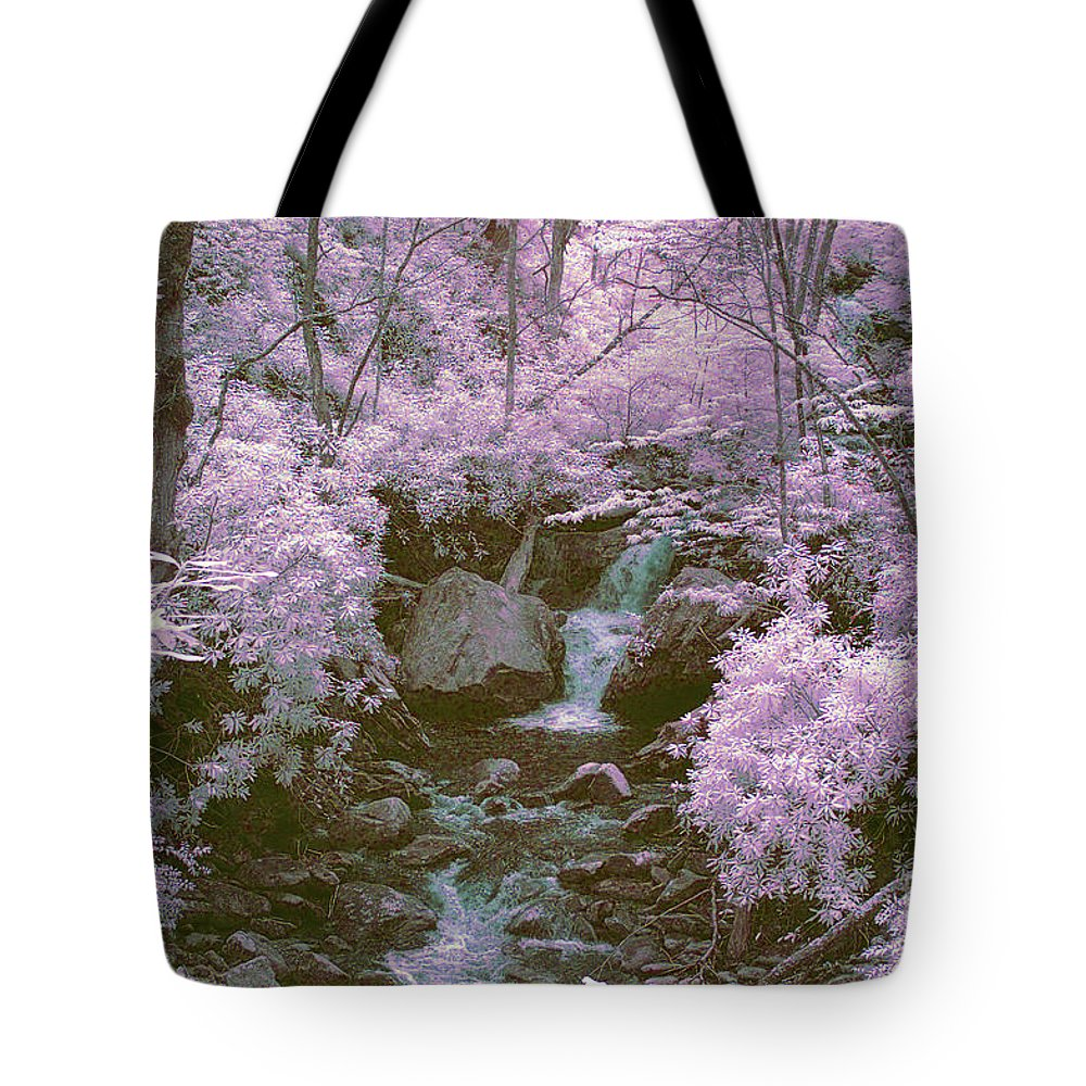 Ir Tote Bag featuring the photograph Infrared Mountain Stream by Paul W Faust - Impressions of Light