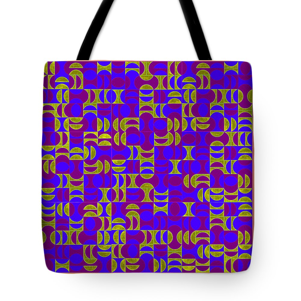Arrangement Tote Bag featuring the digital art Infused Segments.13 by Peter Mcclure
