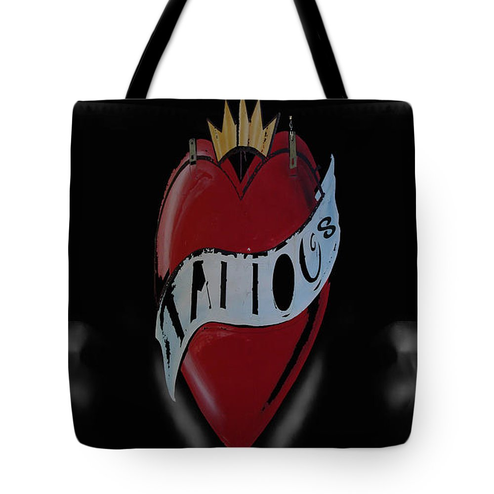 Dangerous Tote Bag featuring the photograph Inked by Digital Kulprits