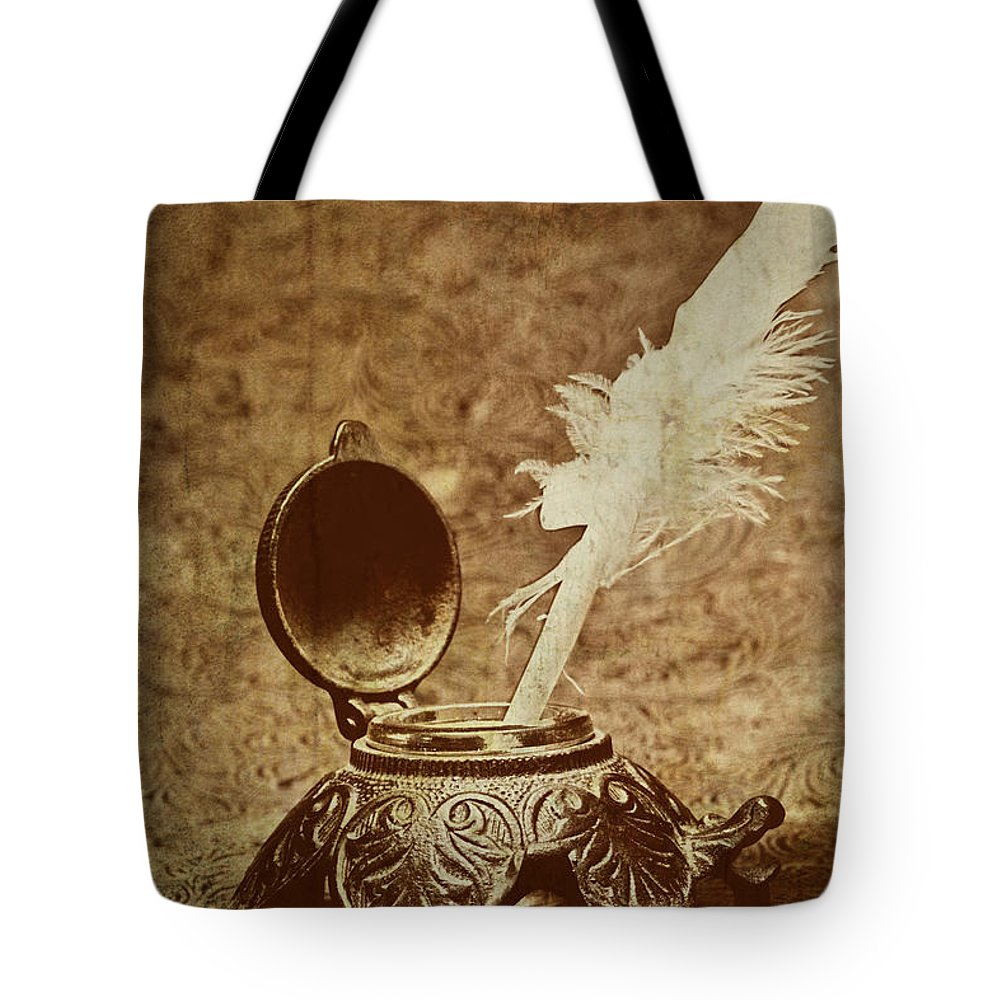 Antique Tote Bag featuring the photograph Inkwell II by Tom Mc Nemar