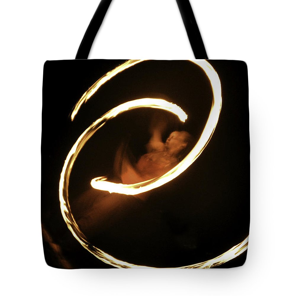 Fire Dancer Tote Bag featuring the photograph Inner Peace by Lovejoy Creations
