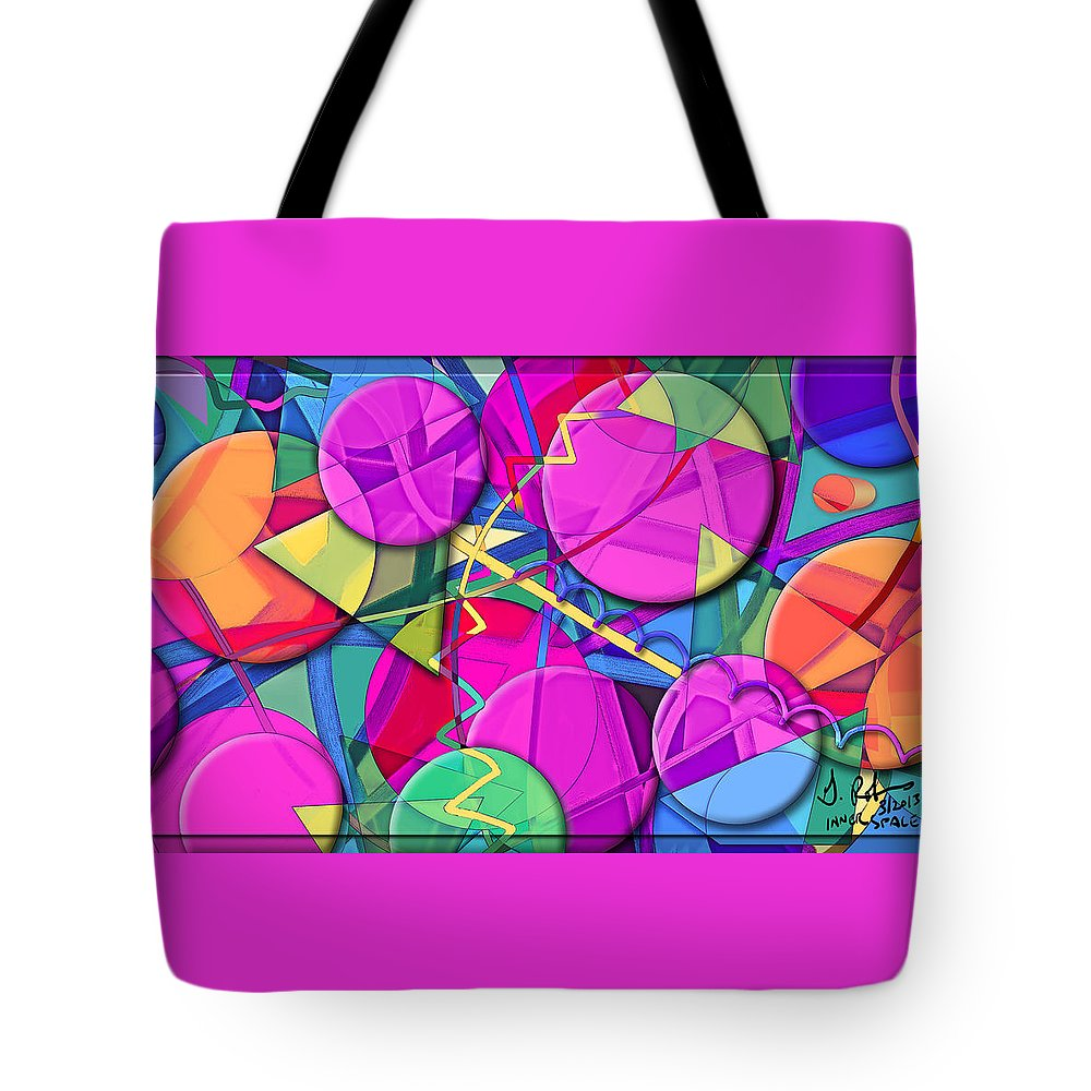 Digital Tote Bag featuring the painting Inner Space by Gerry Robins