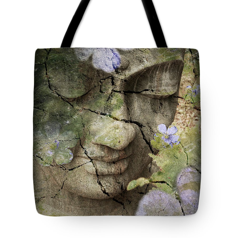 Buddha Tote Bag featuring the mixed media Inner Tranquility by Christopher Beikmann