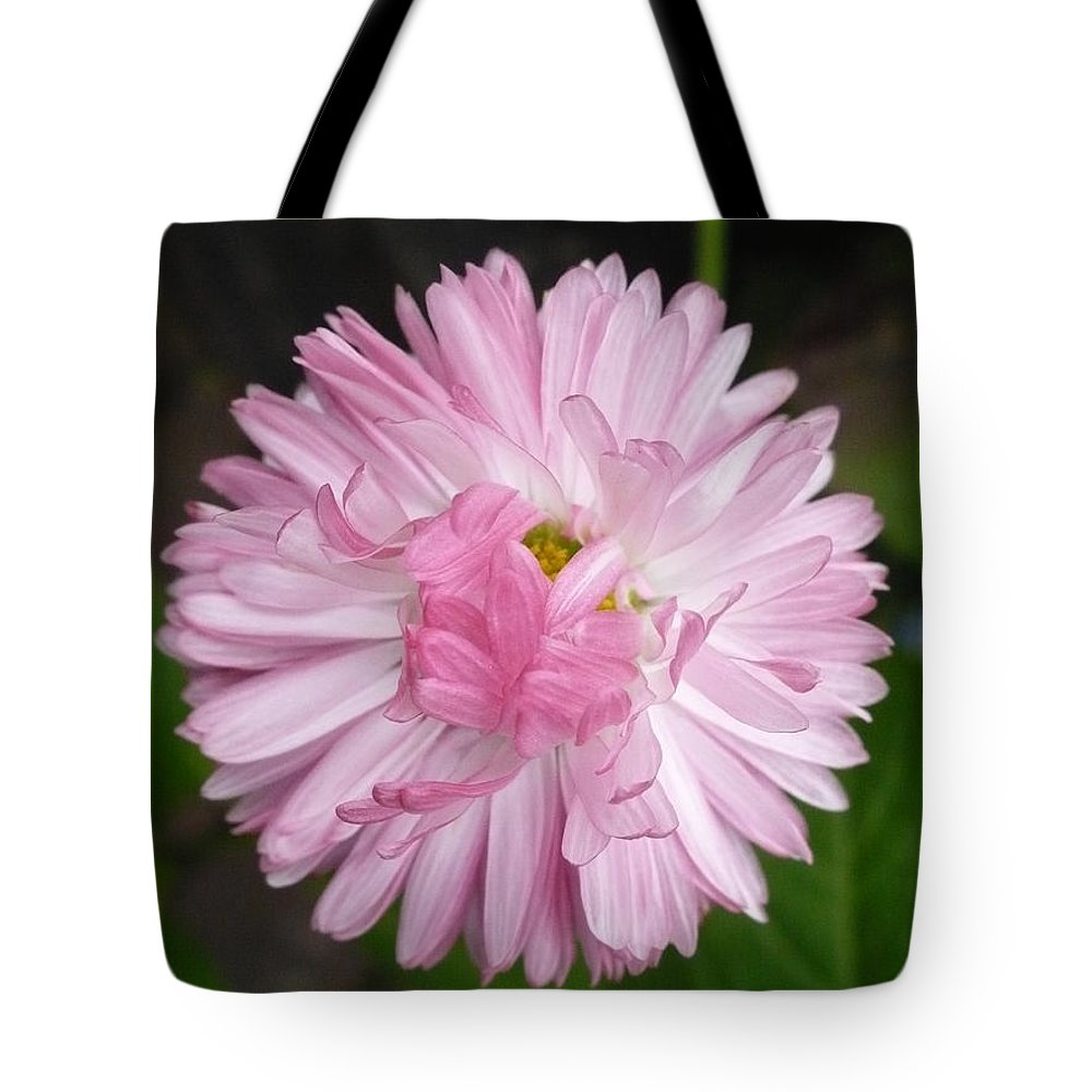 Pink Tote Bag featuring the photograph Innocently Shy by Nicki Bennett