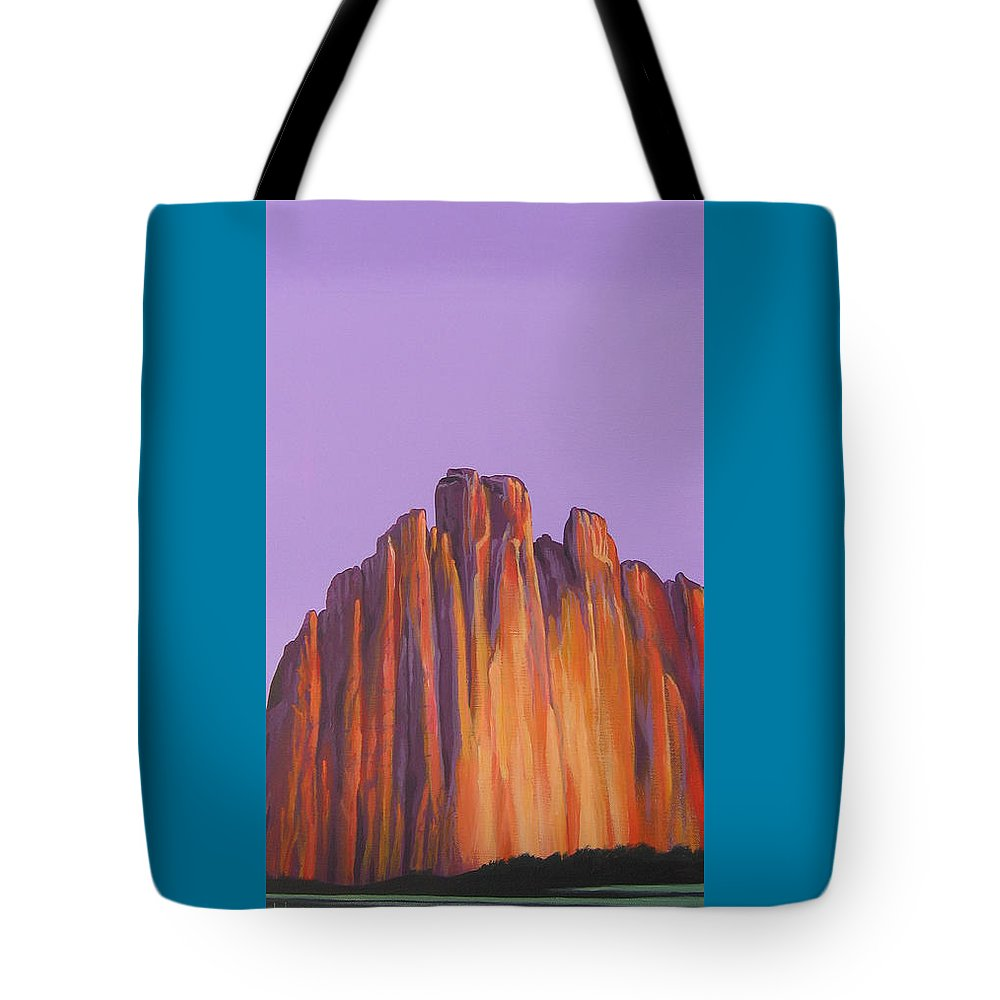 Landscape Tote Bag featuring the painting Inscription Rock by Hunter Jay
