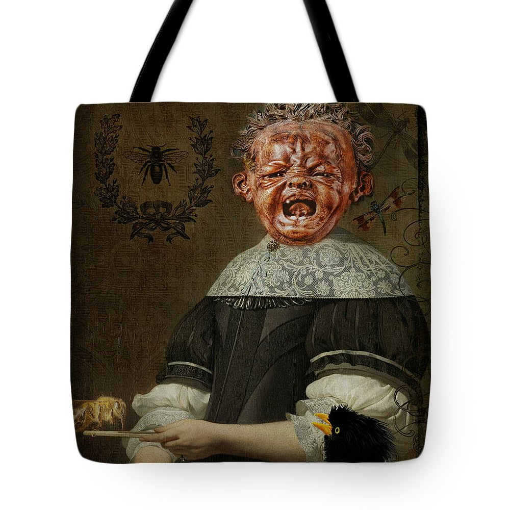 Fear Of Bugs Tote Bag featuring the digital art Insectophobia by Terry Fleckney