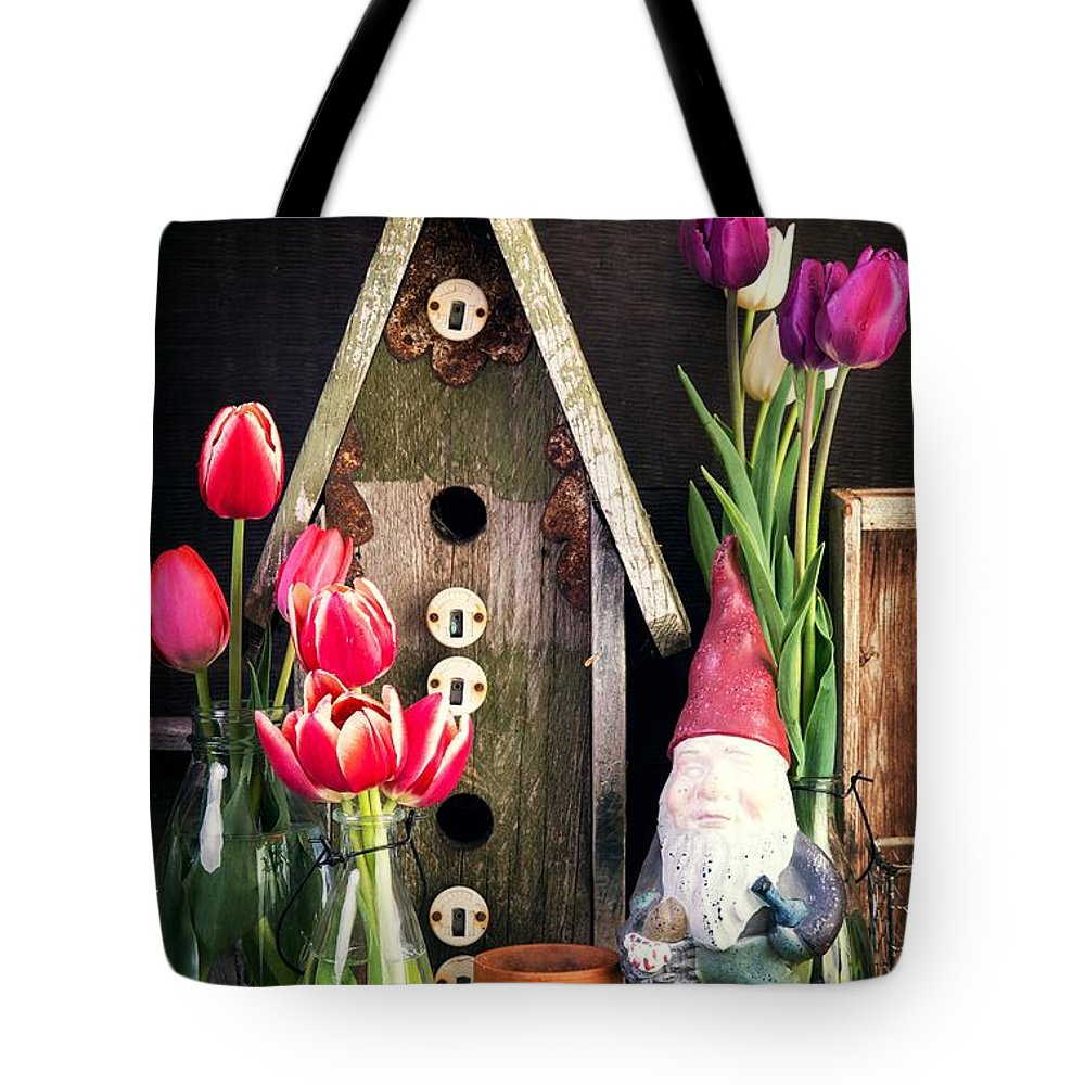 Barn Tote Bag featuring the photograph Inside The Potting Shed by Edward Fielding