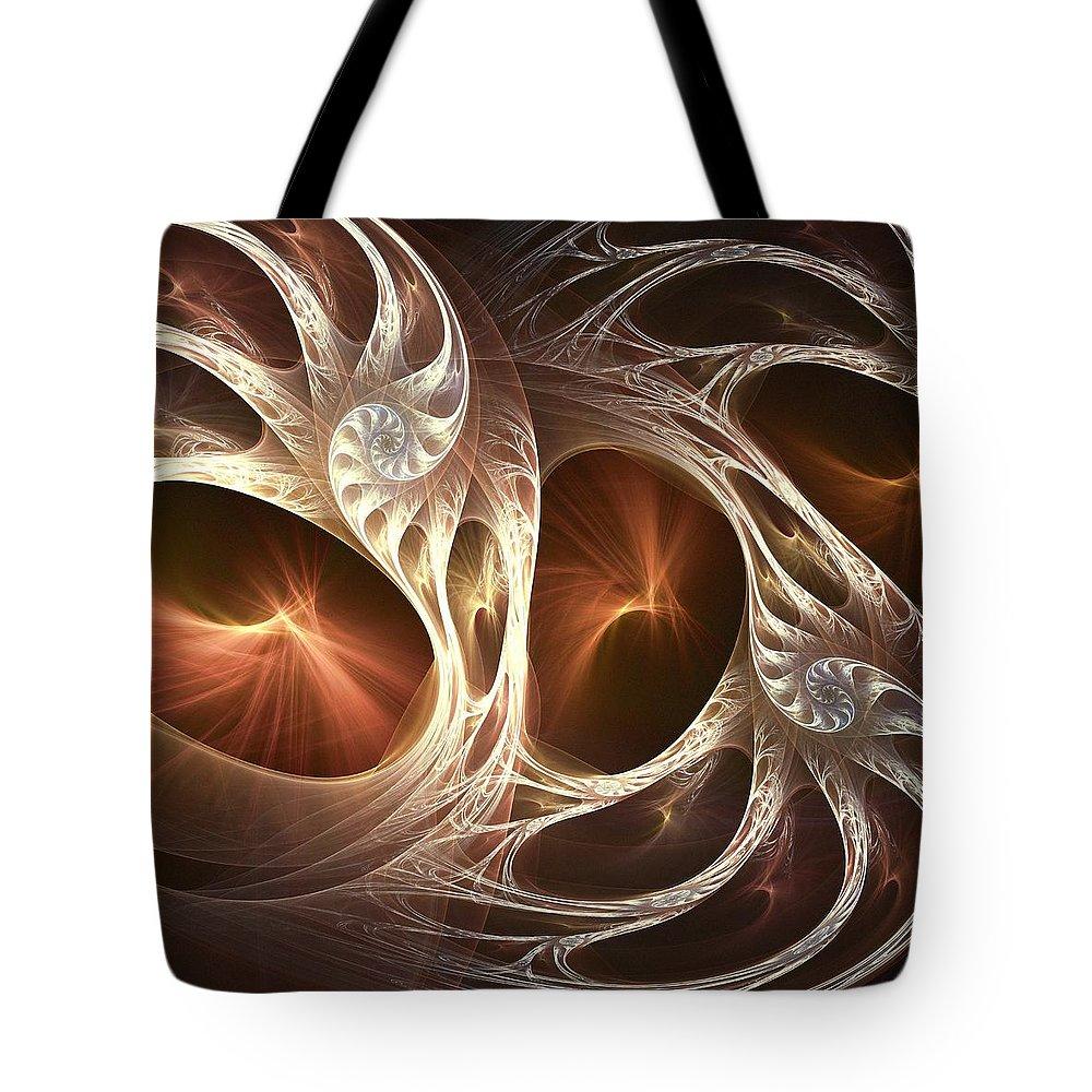 Computer Tote Bag featuring the digital art Inside The Shell by Anastasiya Malakhova