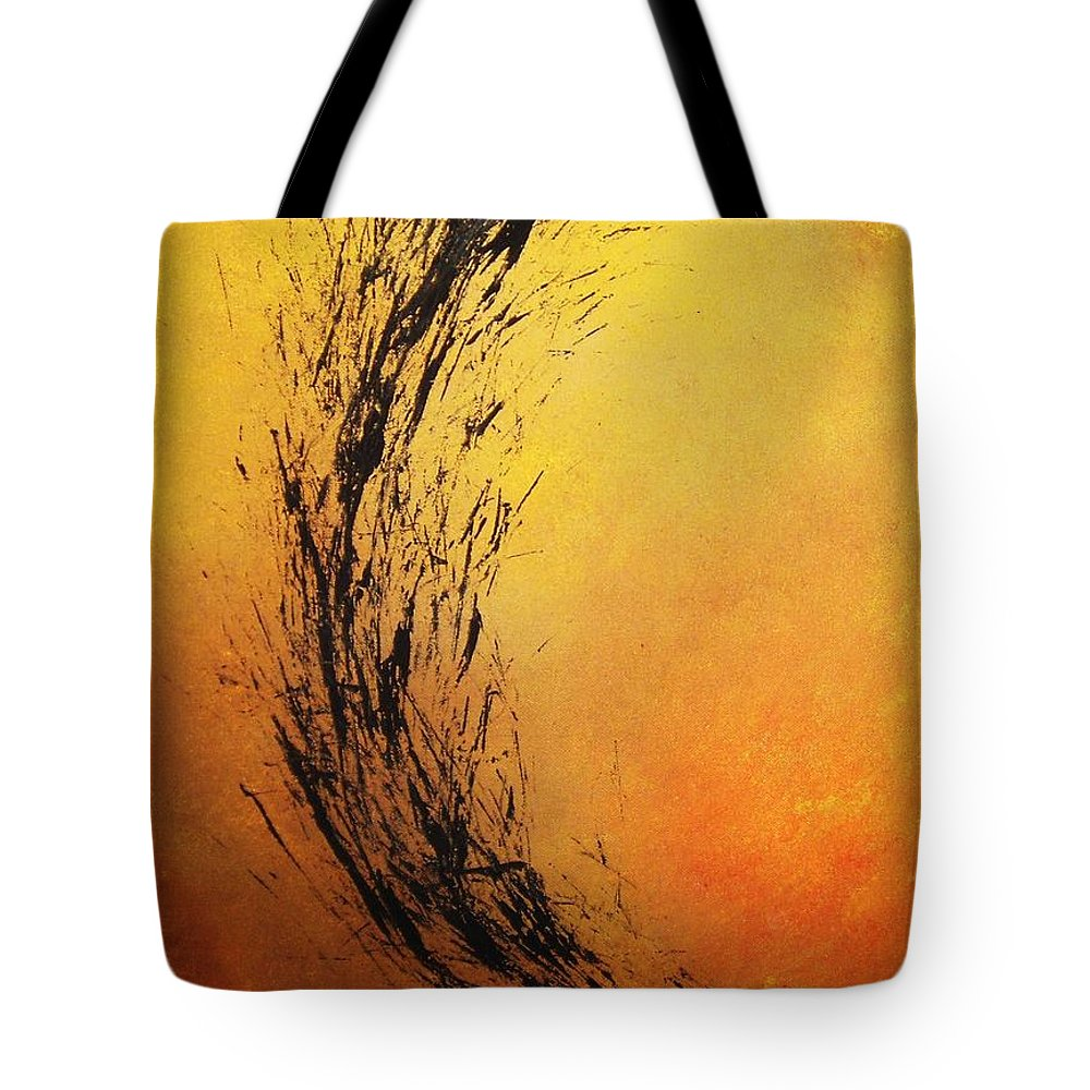 Abstract Tote Bag featuring the painting Instinct by Todd Hoover