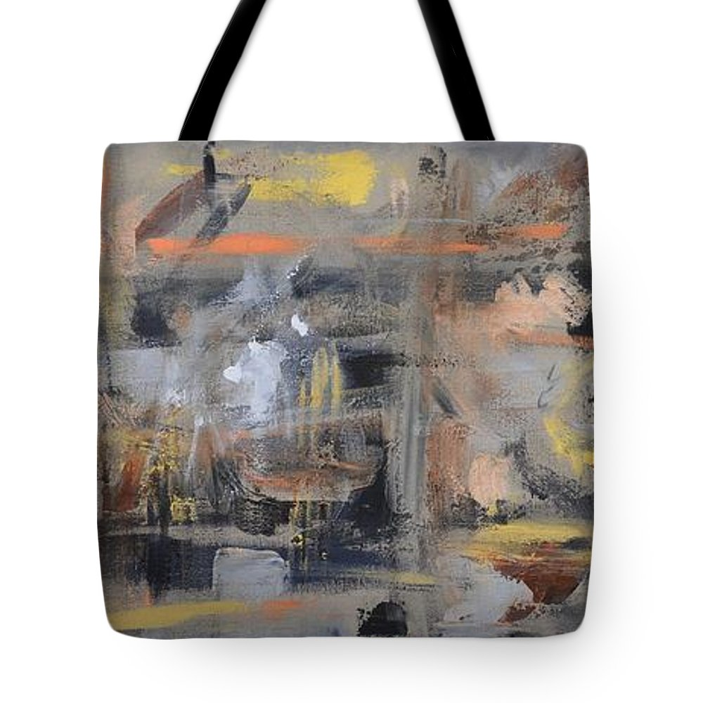 Erica Tuten Tote Bag featuring the painting Intensity by Donna Tuten