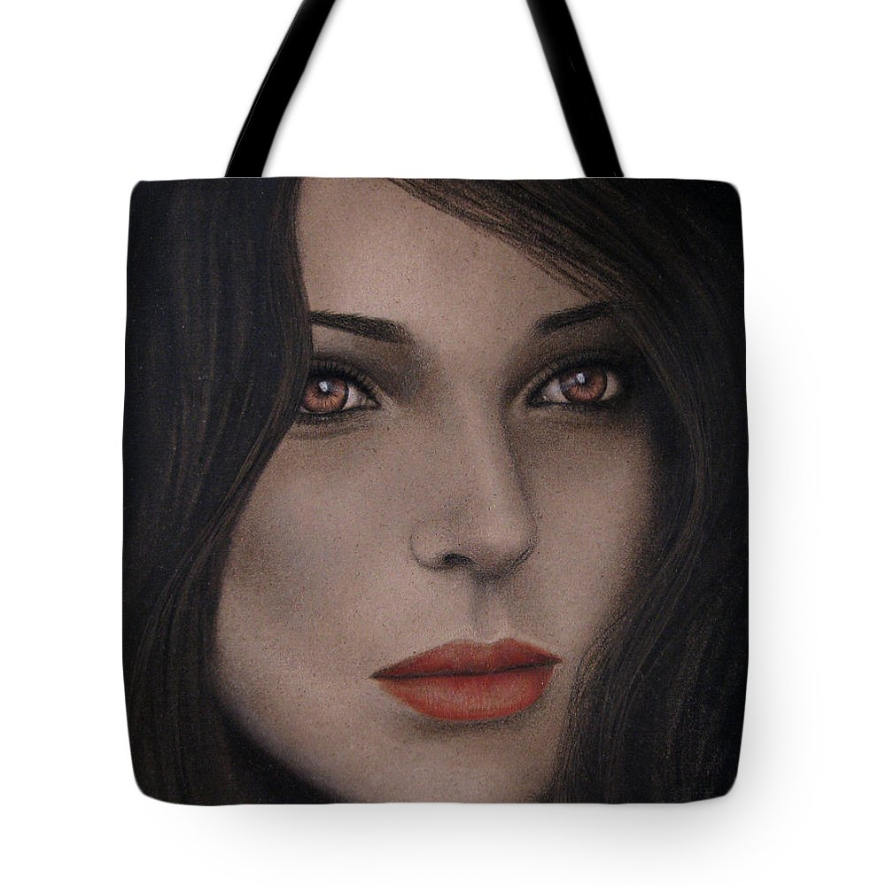Intensity Tote Bag featuring the painting Intensity by Lynet McDonald