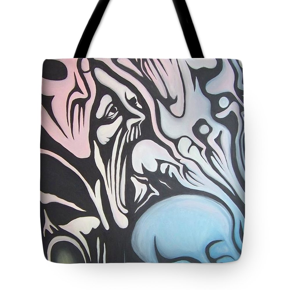 Tmad Tote Bag featuring the painting Intensity by Michael TMAD Finney