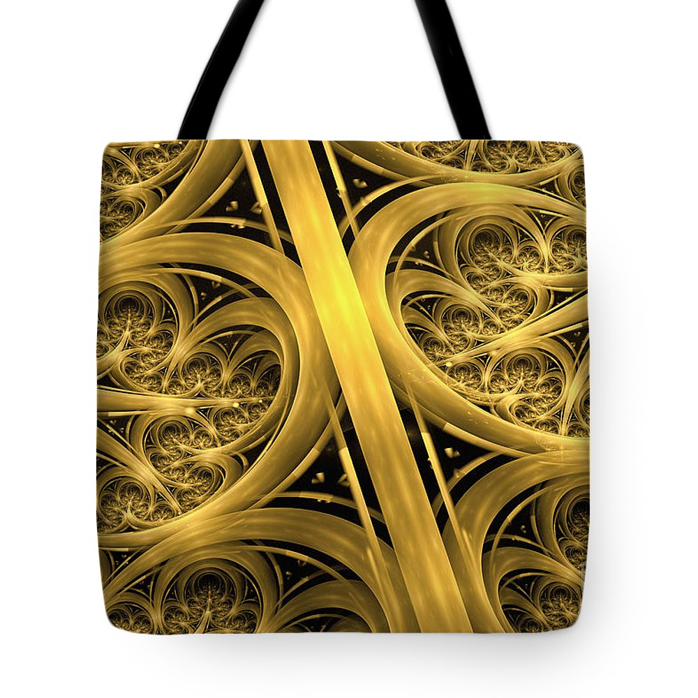 Interchange Abstract Tote Bag featuring the digital art Interchange by John Edwards