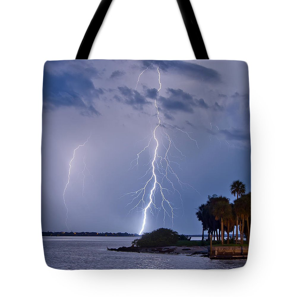 Florida Tote Bag featuring the photograph Intercoastal by Stephen Whalen