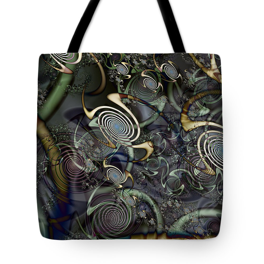 Abstract Tote Bag featuring the digital art Interesting by Kiki Art