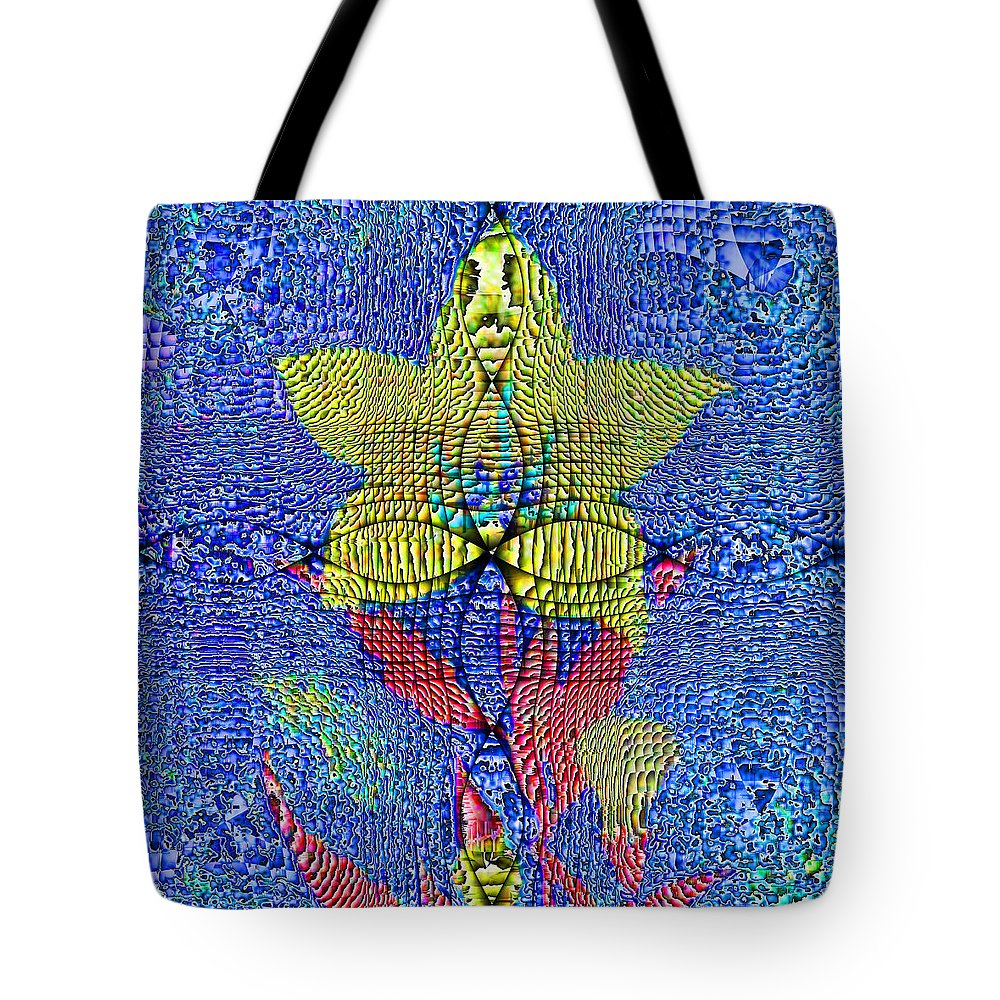 Abstract Tote Bag featuring the digital art Interference Pattern by Jack Bowman