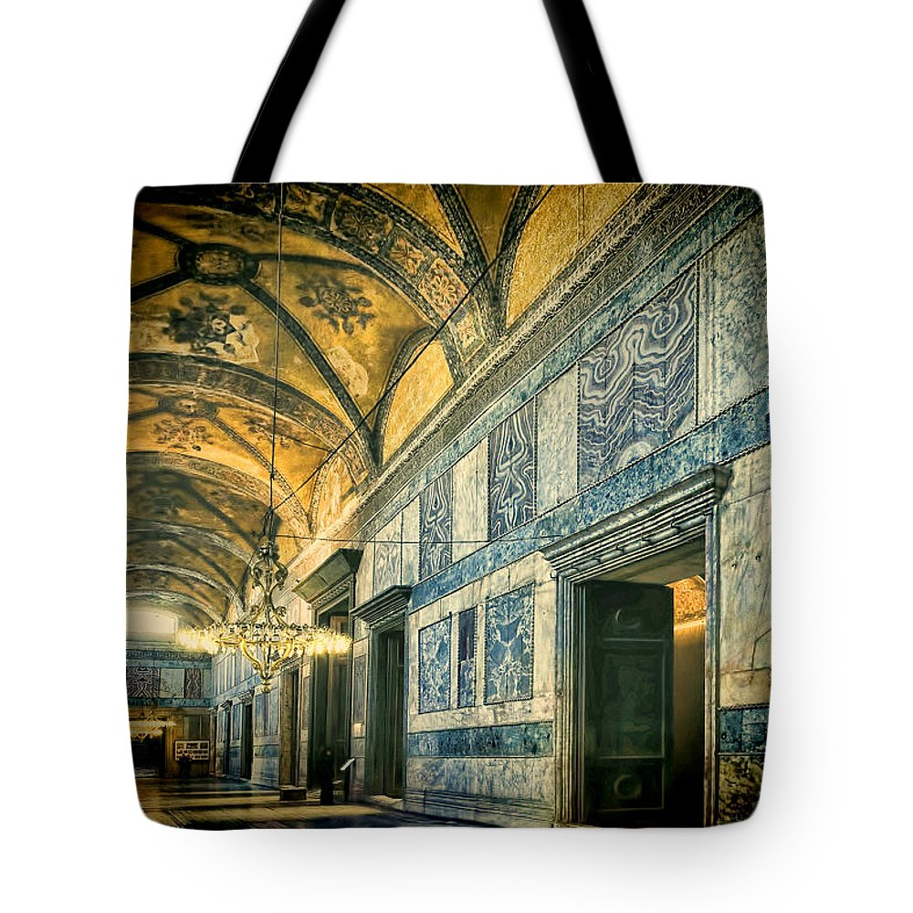 Hagia Sophia Tote Bag featuring the photograph Interior Narthex by Joan Carroll