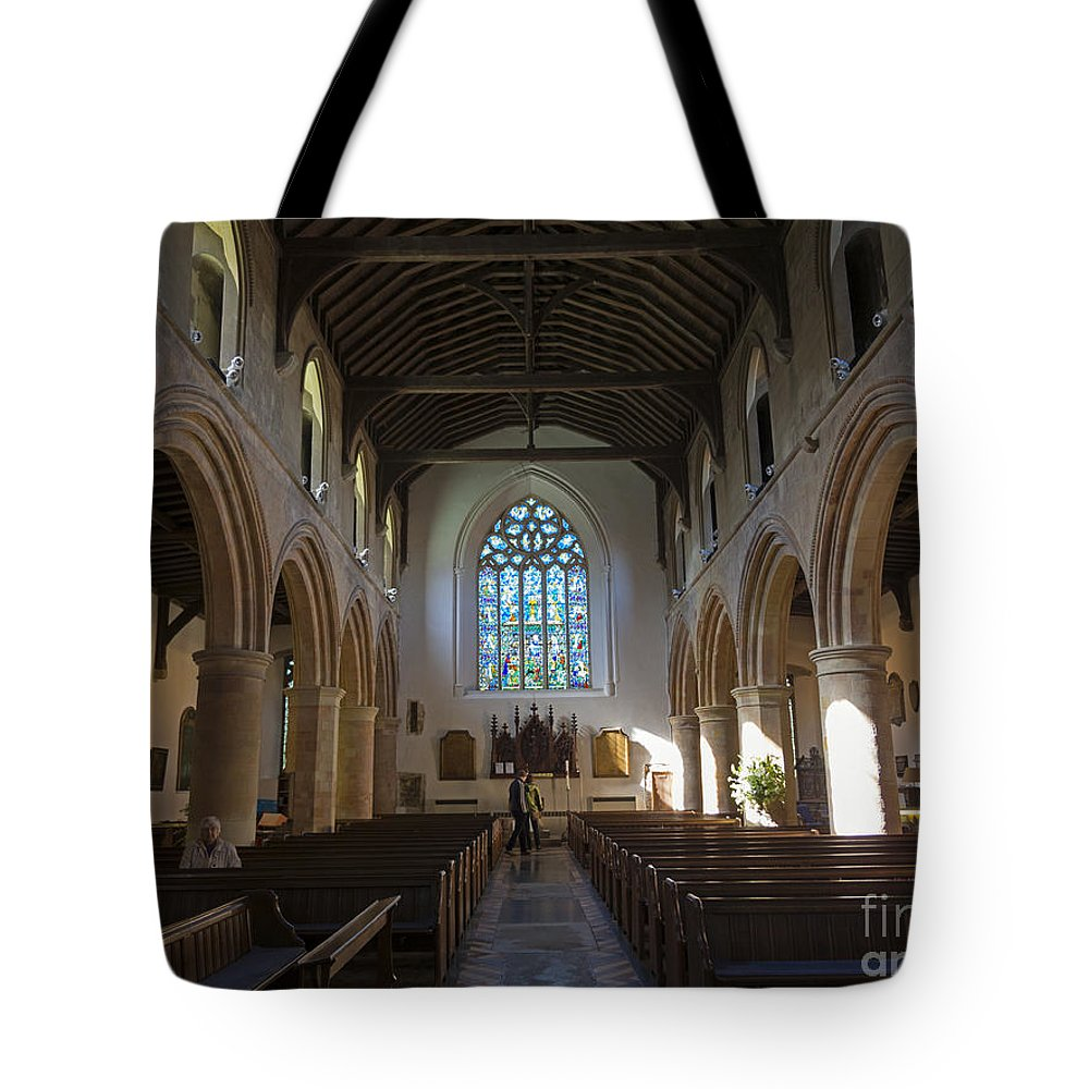 Parish Tote Bag featuring the photograph Interior Of St Mary's Church In Rye by Louise Heusinkveld
