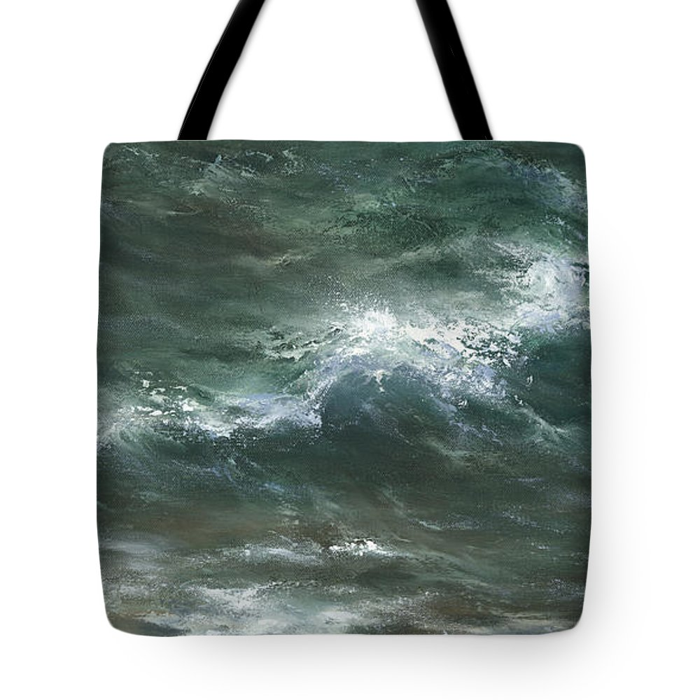 Water Tote Bag featuring the painting Interlude by Sharon Abbott-Furze