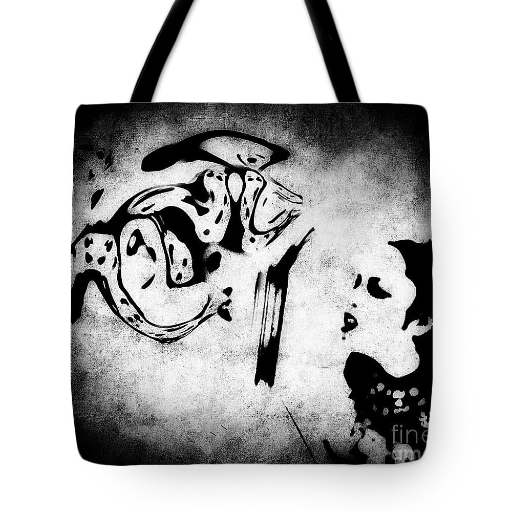 Black Tote Bag featuring the photograph Interrogation by Jessica Shelton