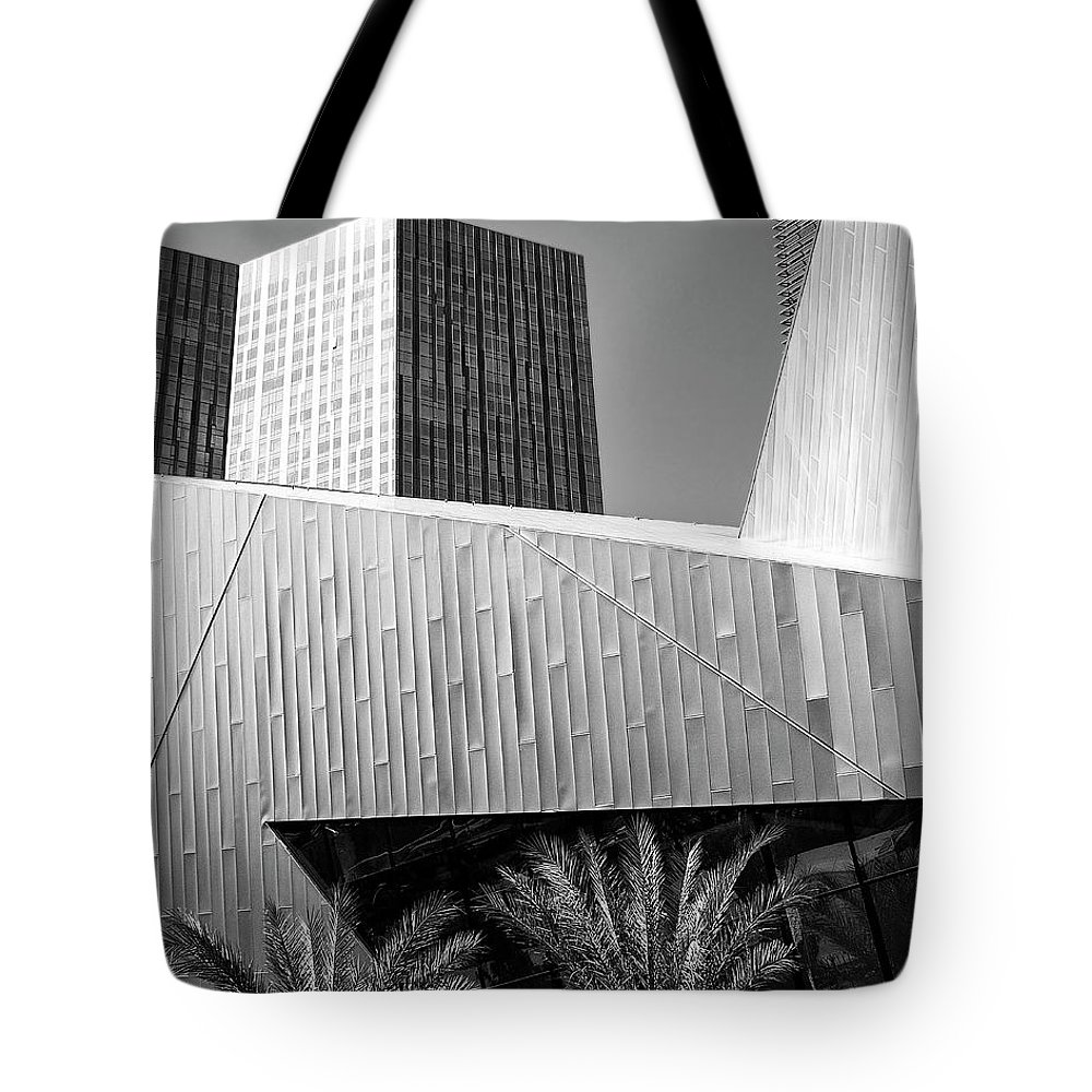 Vegas Tote Bag featuring the photograph Intersection 2 Bw Las Vegas by William Dey